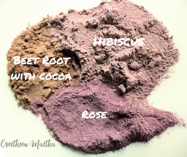 Different shades of DIY blush