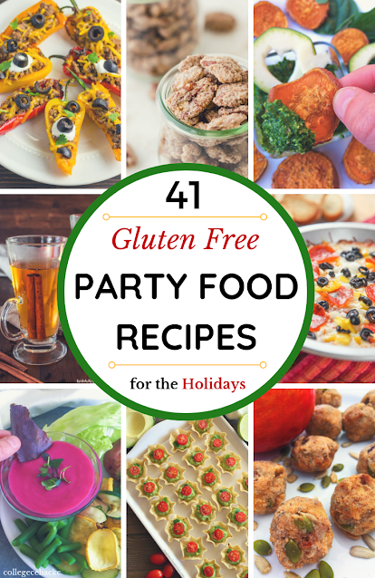 Need some #glutenfree party food recipes that will be a hit with EVERYONE? Check out this round up, which includes #keto, #vegan and #paleo options!