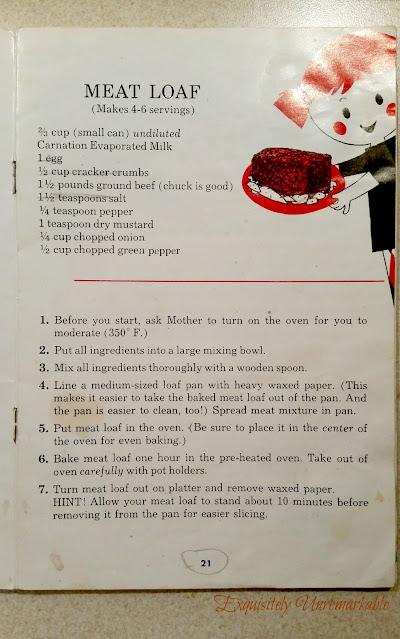 Meatloaf recipe cookbook page