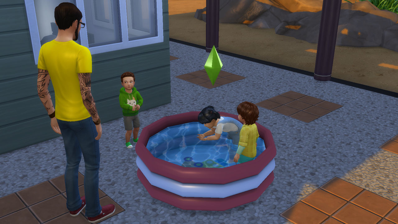 Sims 4 cc 39 s the best functional toddler pool by for Pool designs sims 4