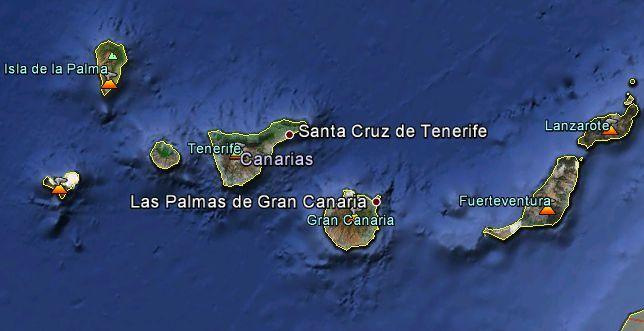 Origen del arco volc nico de las islas canarias - Islas canarias con ninos ...