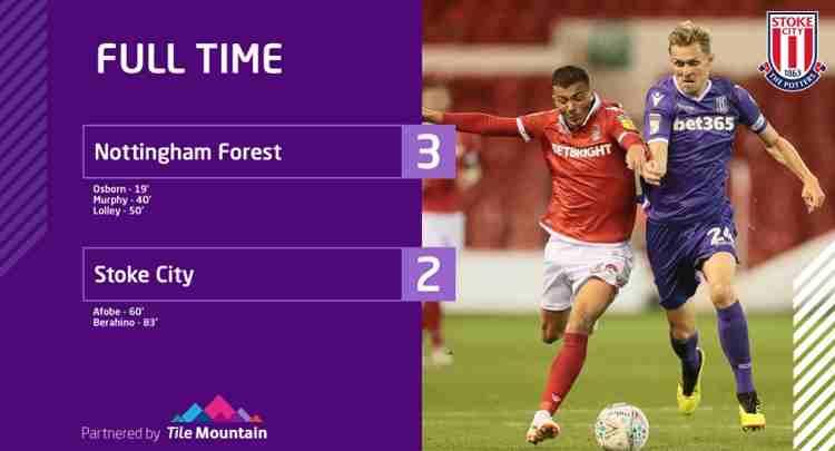 Hasil Nottingham Forest vs Stoke City Skor Akhir 3-2