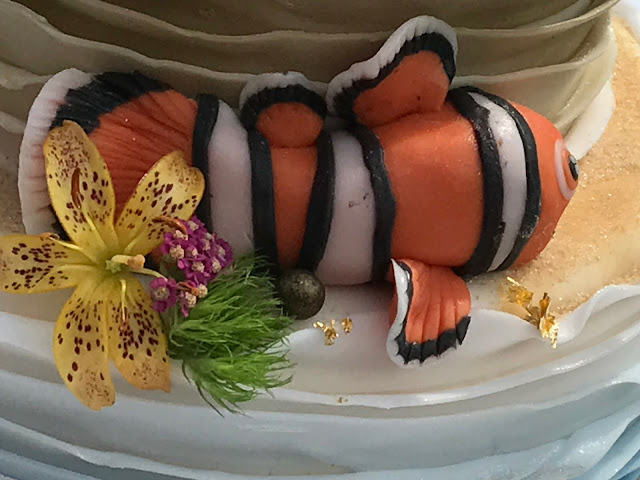 Nemo, Clownfisch Hochzeitstorte, exotisch heiraten, Malediven Karbiik-Hochzeit im Seehaus, Riessersee Hotel Garmisch-Partenkirchen Bayern, Hochzeitsplanerin Uschi Glas