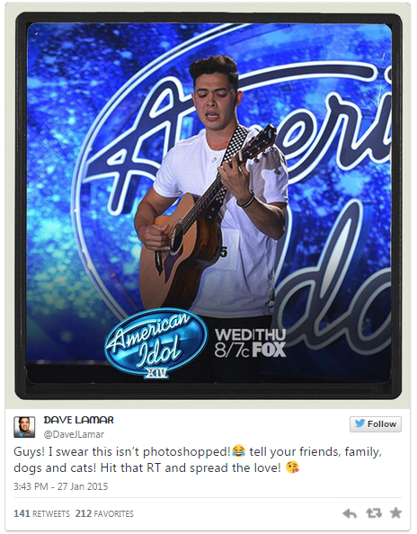 Dave Lamar from The Voice Philippines Tries His luck on American Idol