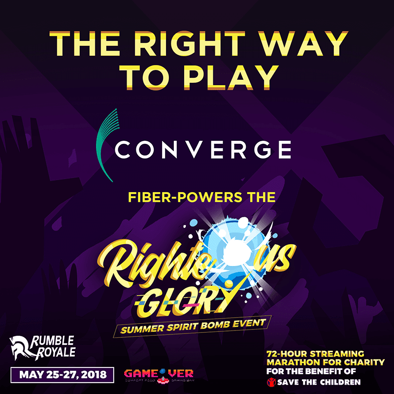 Converge ICT powered Righteous Glory Summer Spirit Bomb gaming event!