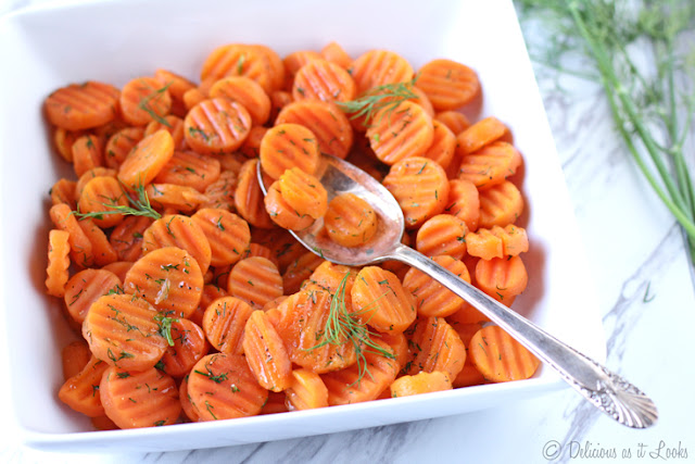 Low-FODMAP Maple Dill Carrots  /  Delicious as it Looks
