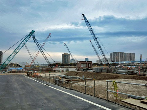 Toyosu Island construction for new Tokyo Wholesale Market