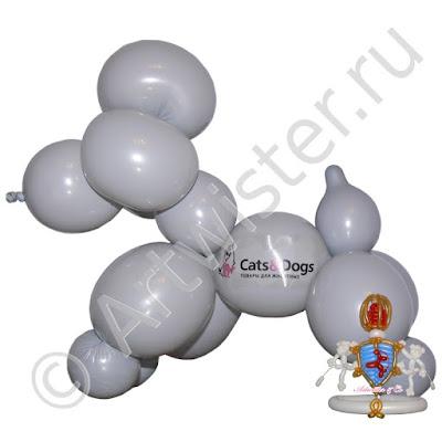 Собачка фигура из воздушных шаров