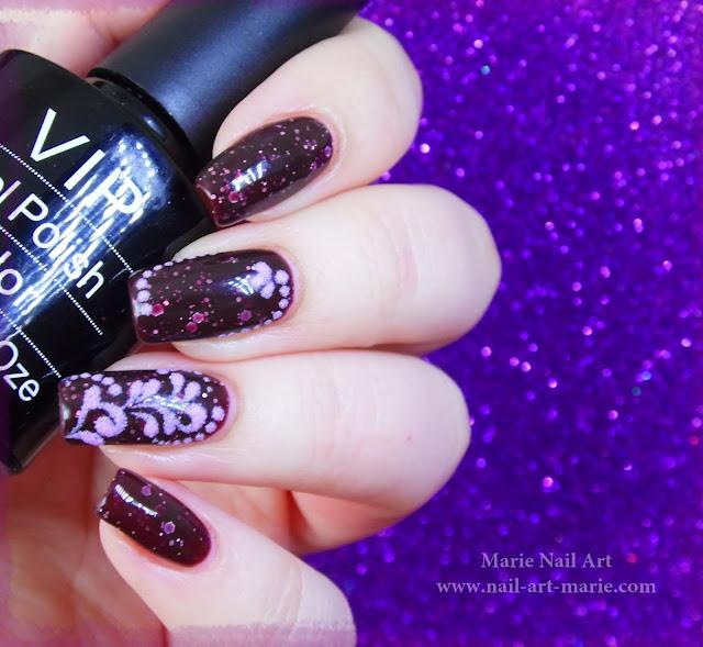 nail art thermique et sable de velours4