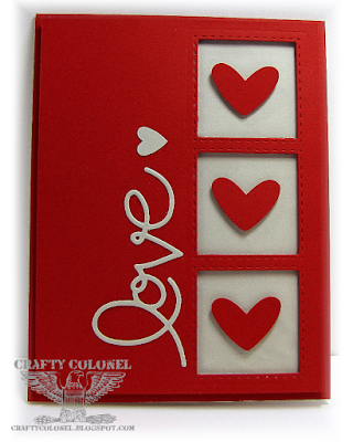 CraftyColonel Donna Nuce for Cards in Envy Challenge Hearts