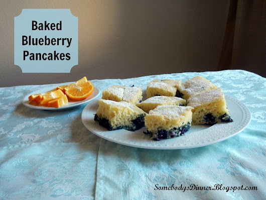 Baked Blueberry Pancakes