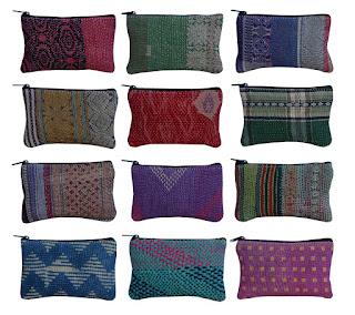 Wholesale Vintage Sari Kantha Clutch Vintage Kantha Pouch