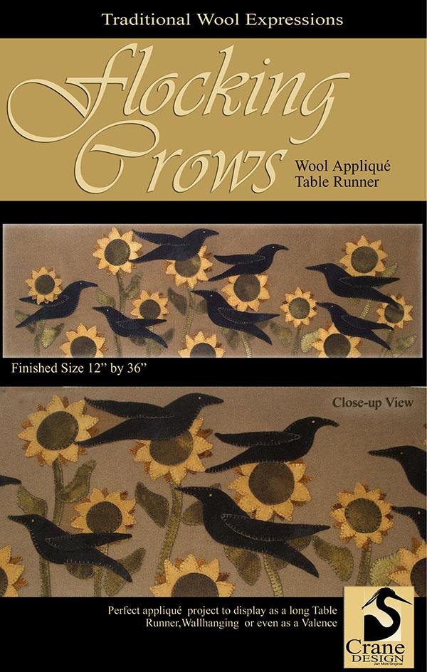 Crow Moon Applique Pattern