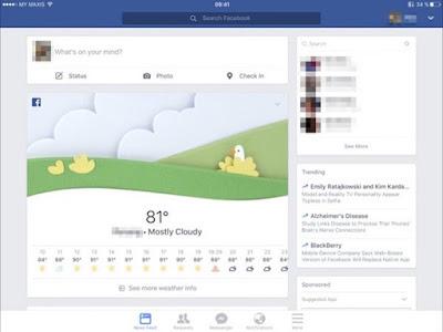 Facebook Resmi Luncurkan Fitur Ramalan Cuaca