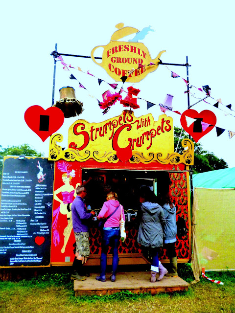 Strumpets with crumpets glastonbury festival 2013