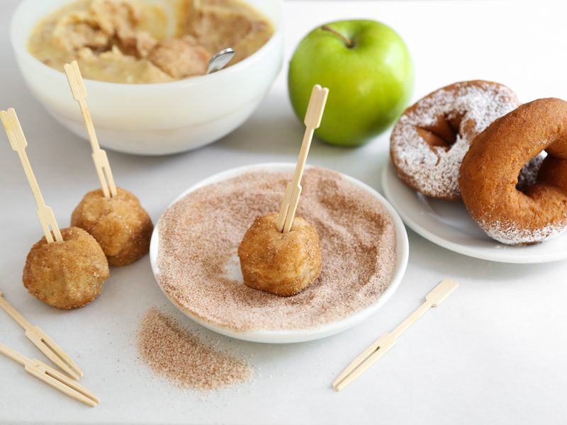 apple cider donut truffles toasted cider donut snack mix there was no ...