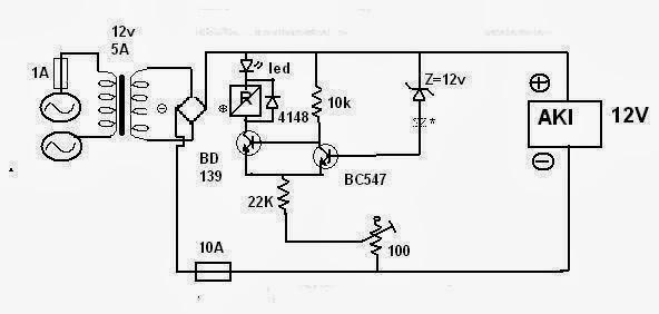 Electro Zone Rangkaian Pengisi Aki Otomatis