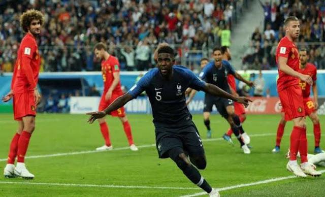 فرنسا تحجز مقعدها في نهائي مونديال روسيا 2018 بفوزها على بلجيكيا.