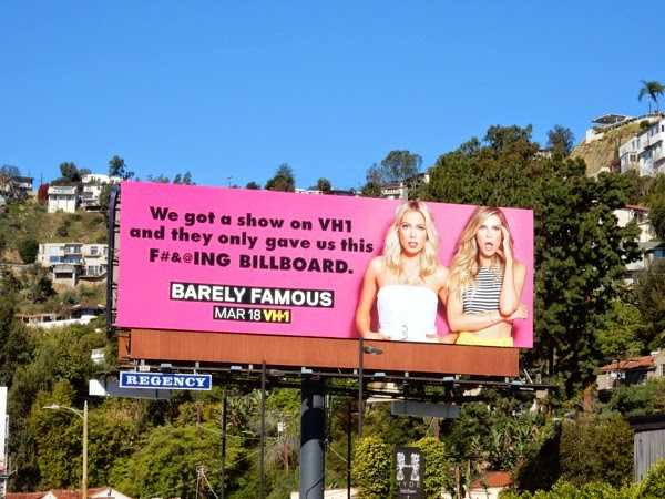 Barely Famous VH1 series billboard