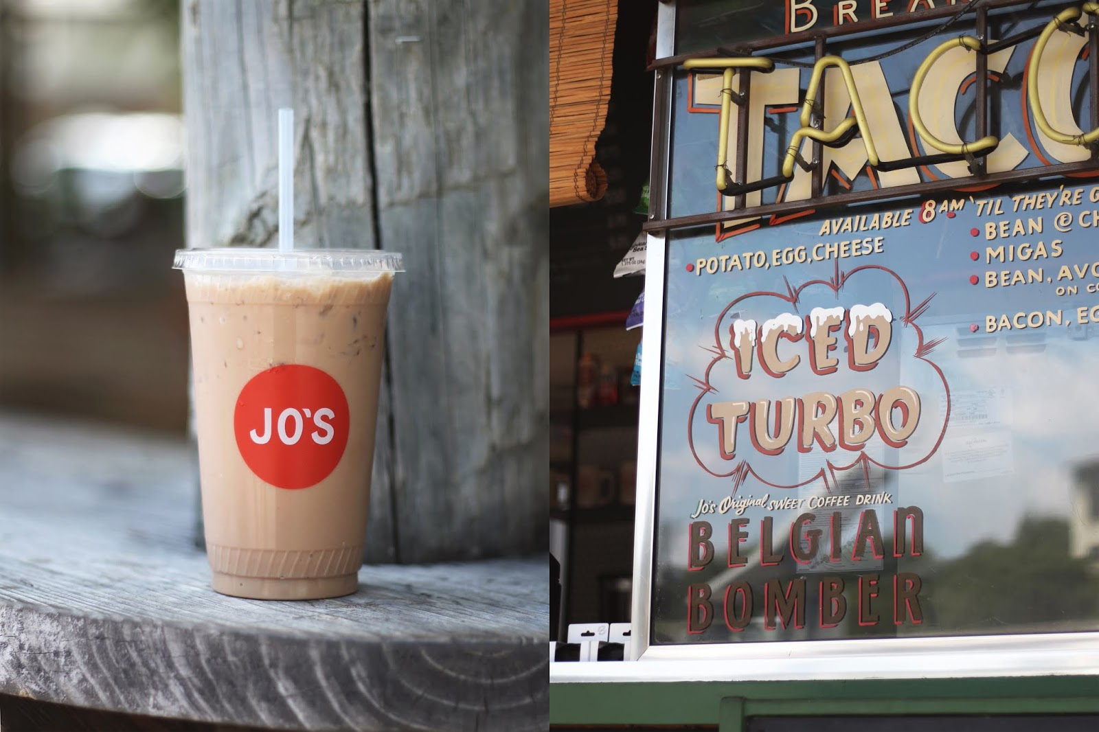 Jo's Coffee Austin, Iced Coffee, Cozy Coffee Shop, Coffee Shops Vibe