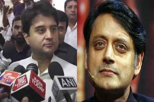 jyotiraditya-scindia-told-shashi-tharoor-have-not-knowledge-history
