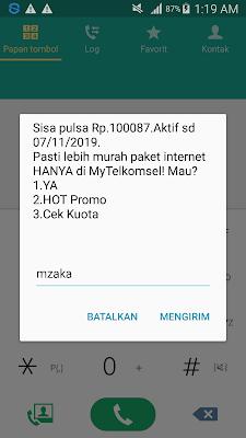 Bukti Pembayaran Pulsa Gratis dari Aplikasi Hago Android