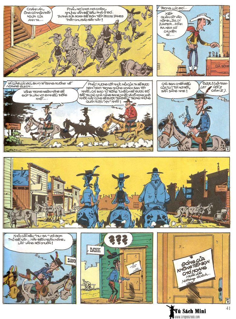 Lucky Luke tap 16 - jesse james hiep si rung xanh trang 43