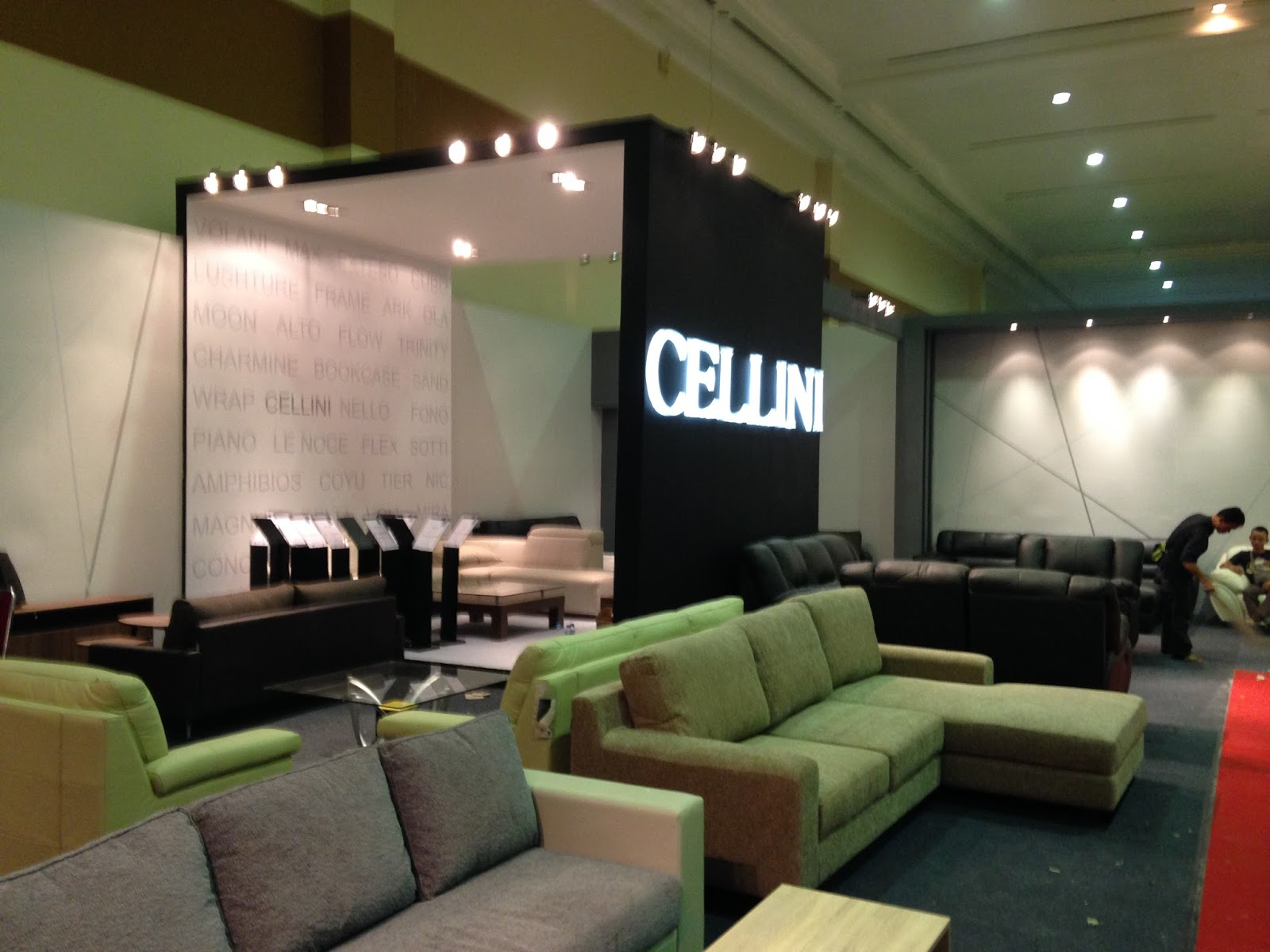 Booth cellini furniture expo