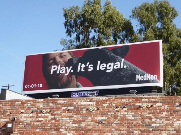 MedMen Play Its legal billboard