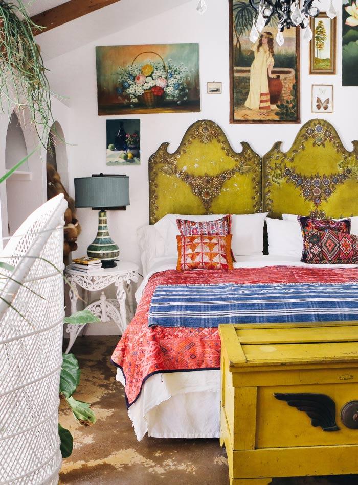 Dormitorio en una casa de estilo Boho- Vintage