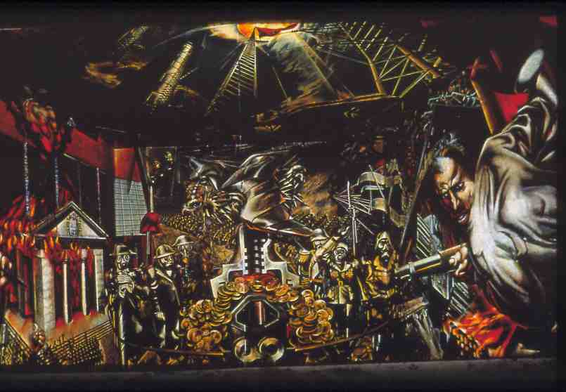 La espina roja retrato de la burgues a mural del for El mural de siqueiros en argentina
