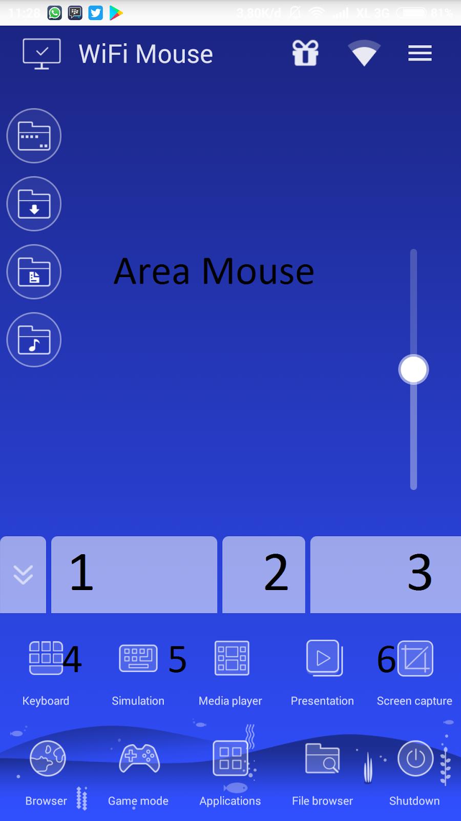 menjadikan android sebagai wireless mouse keyboard 100%work