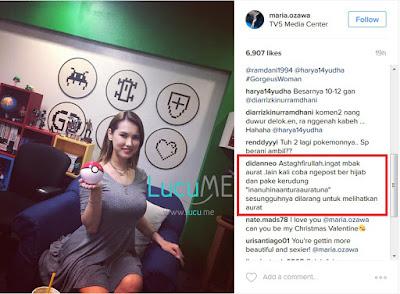 Maria Ozawa Pamer 'Bola' di Instagram, Komentar Netizen Ini Bikin Ingat Akhirat