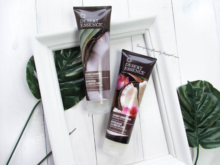 Питательная кокосовая серия для сухих волос от Desert Essence / блог A Piece of beauty