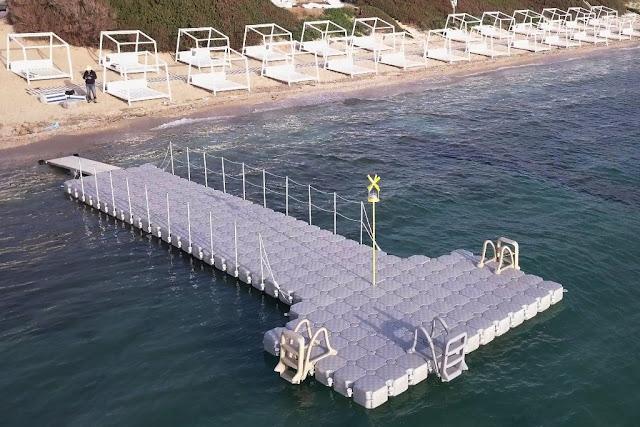 Νέα πλωτή εξέδρα στη Κόστα Πορτοχελίου