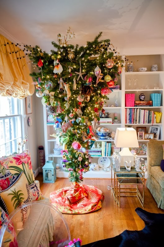 Chinoiserie Chic My Living Room and Upside Down Christmas Tree