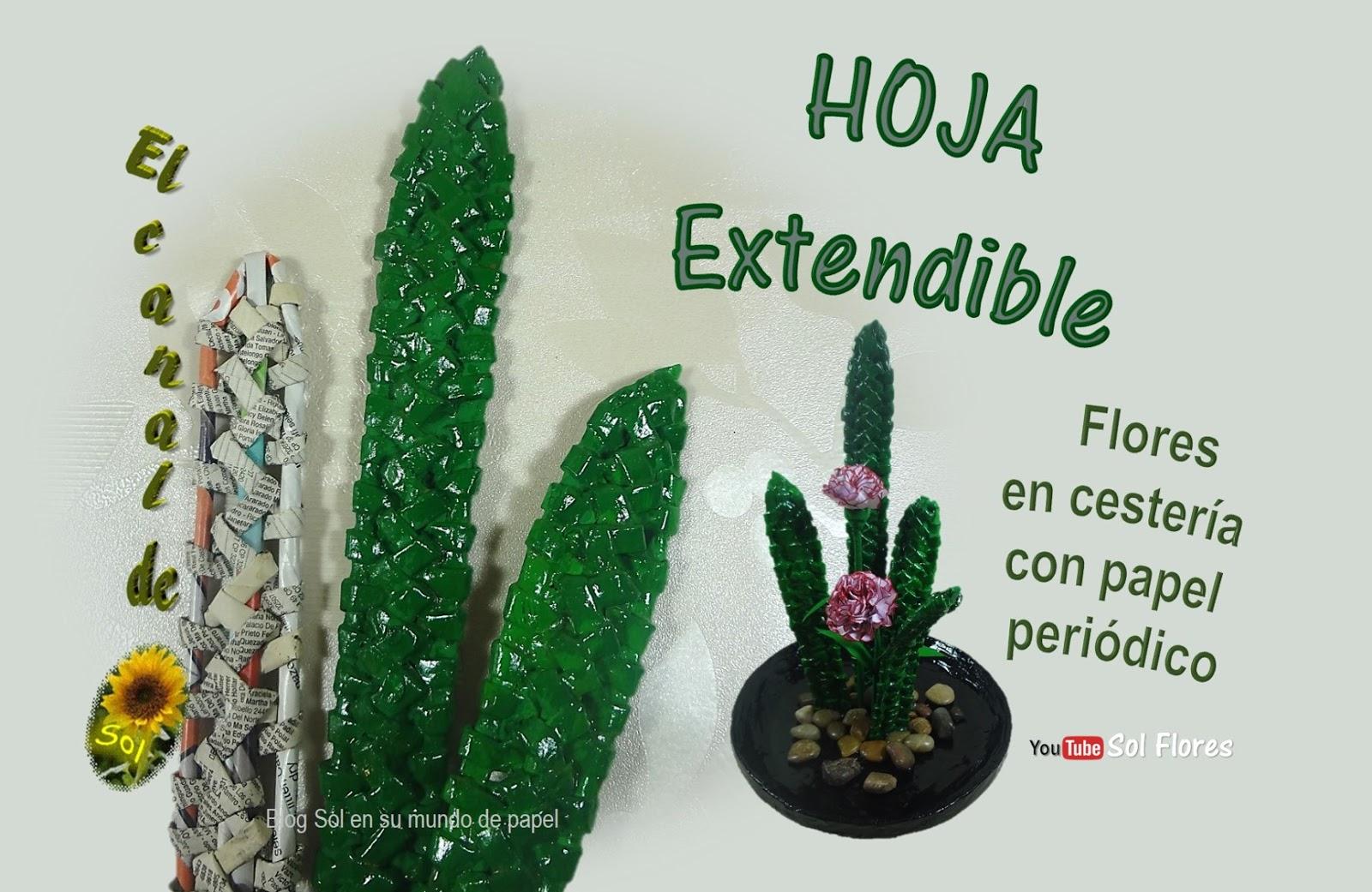 Hoja extendible flores en cester a con papel peri dico 2 de 3 - Cesteria con papel periodico paso a paso ...