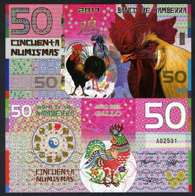 Tiền con gà Kamberra Úc