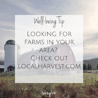 well-being tip: but from local farms