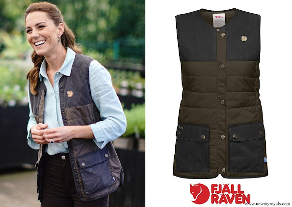 Kate Middleton wore Fjallraven Sormland Padded Vest Dark Olive