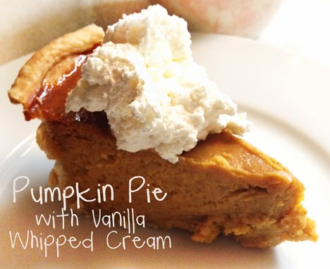 Pumpkin Pie with Vanilla Whipped Cream | A Good Hue