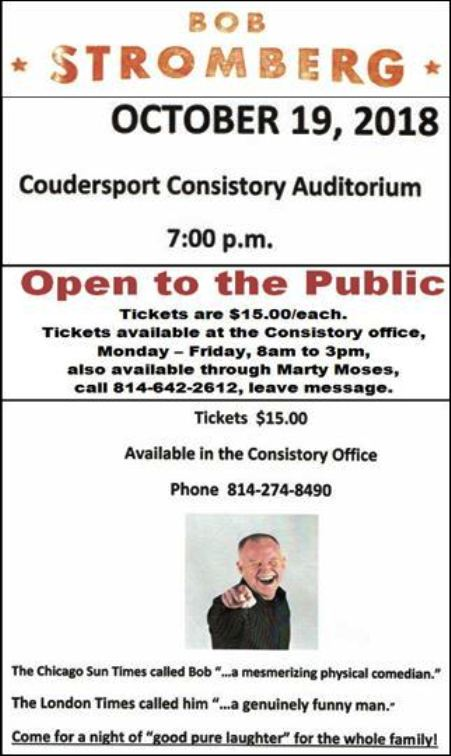 10-19 Bob Stromberg at Coudersport Consistory