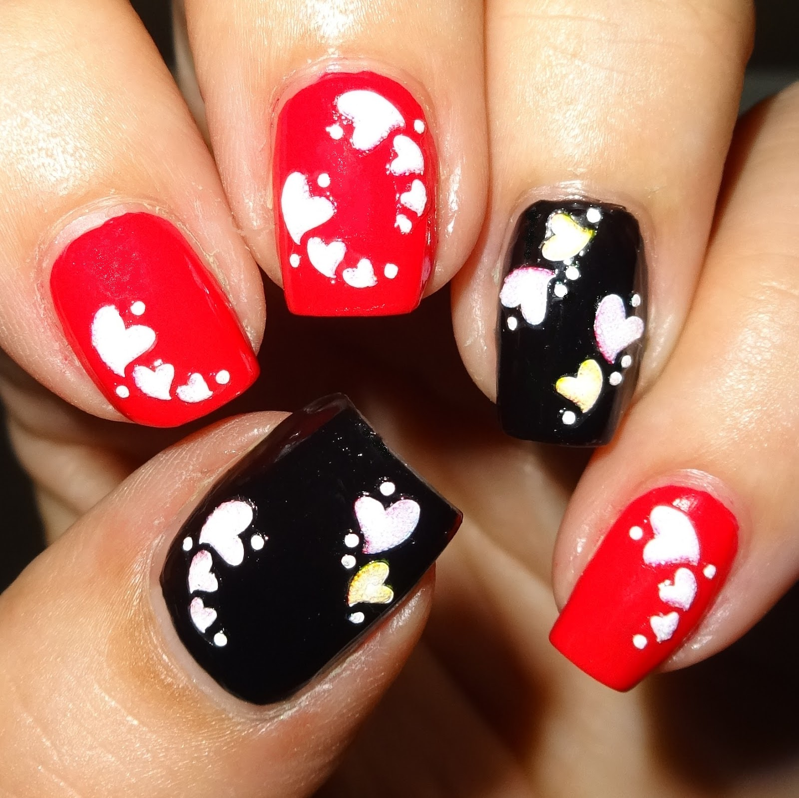Wendy\'s Delights: Colour Hearts Nail Stickers from Sparkly Nails
