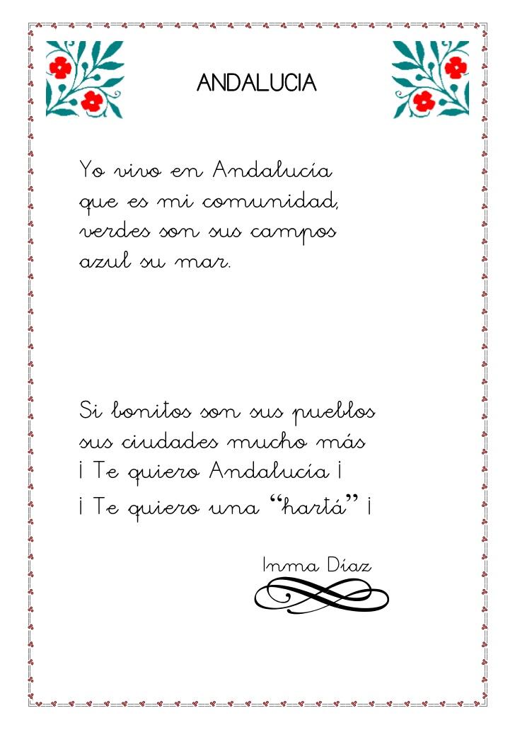 Trabajando En Educacion Infantil 10 Poesias Para El Dia De Andalucia