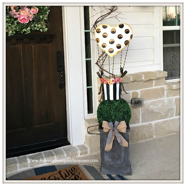 Valentines Day Front Porch-Topiary-DIY-Valentines Decor-The Round Top Collection-From My Front Porch To Yours