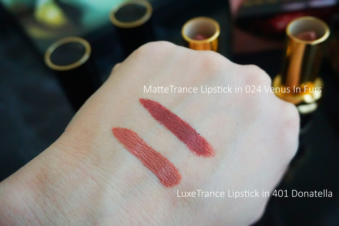 at McGrath LuxeTrance Lipstick in 401 Donatella MatteTrance Lipstick in 024 Venus