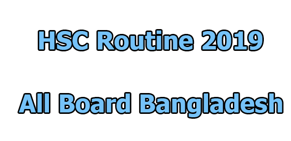 HSC Routine 2019 Published