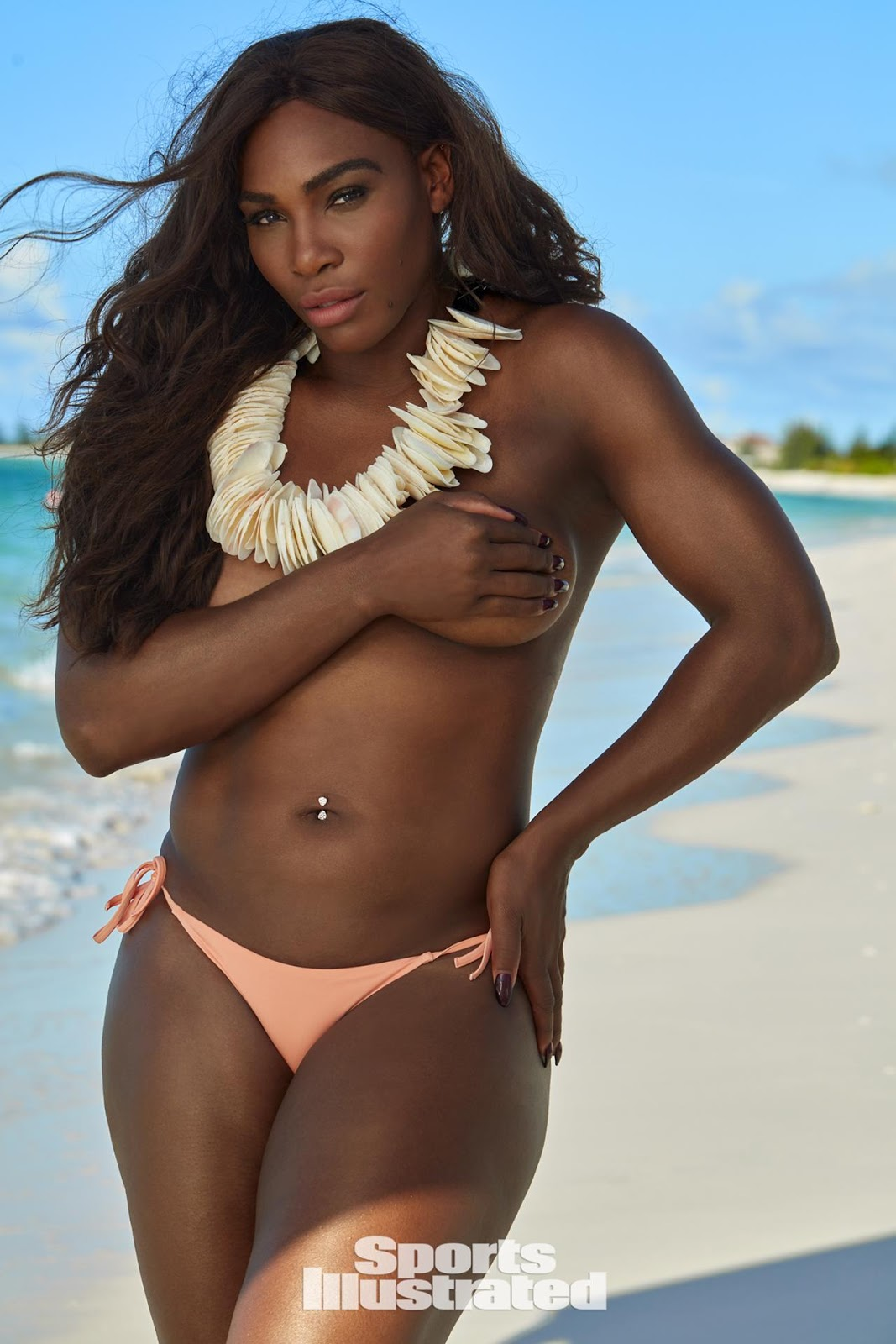 Serena Williams poses topless for Sports Illustrated Swimsuit Issue 2017