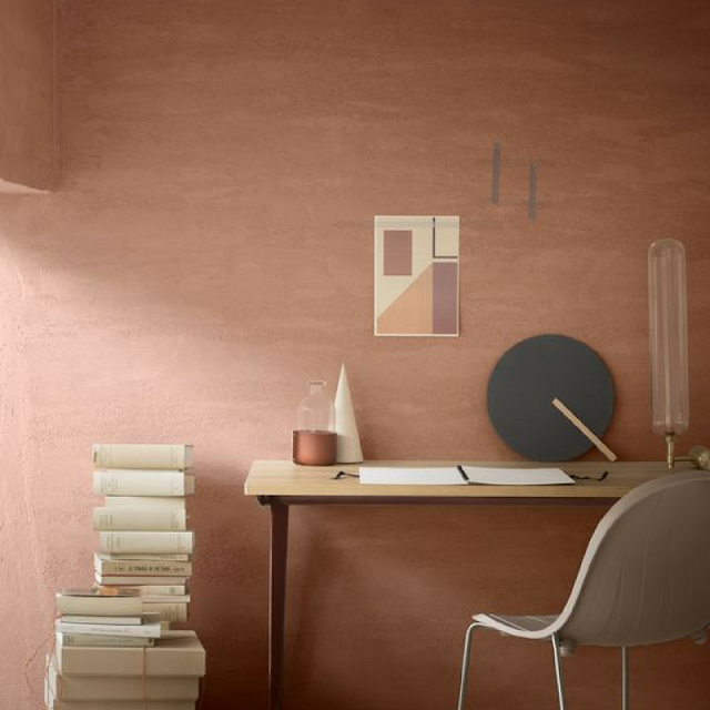 Pink office wall and styling photo • the round button blog