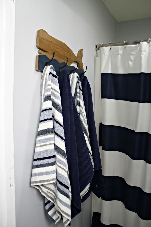 Whale towel hooks